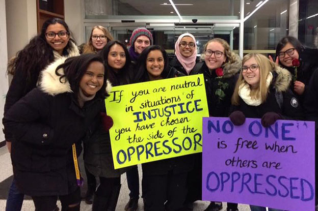 Social Work students protest Islamophobia